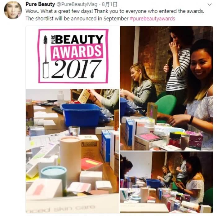 bevyc妝前保養Pure Beauty Awards行家間評比 只選出最好的